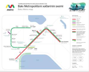HD baku metro map
