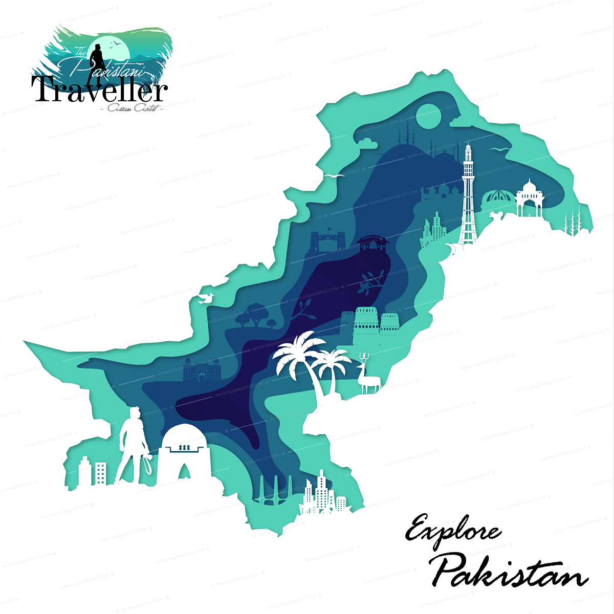 Pakistan tourist map