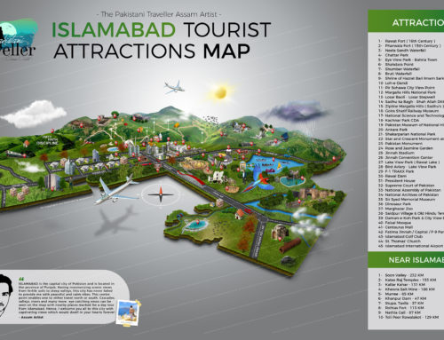 Islamabad First Tourist Attractions Map