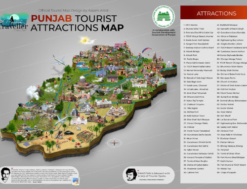 Official Punjab First Tourist Attractions Map