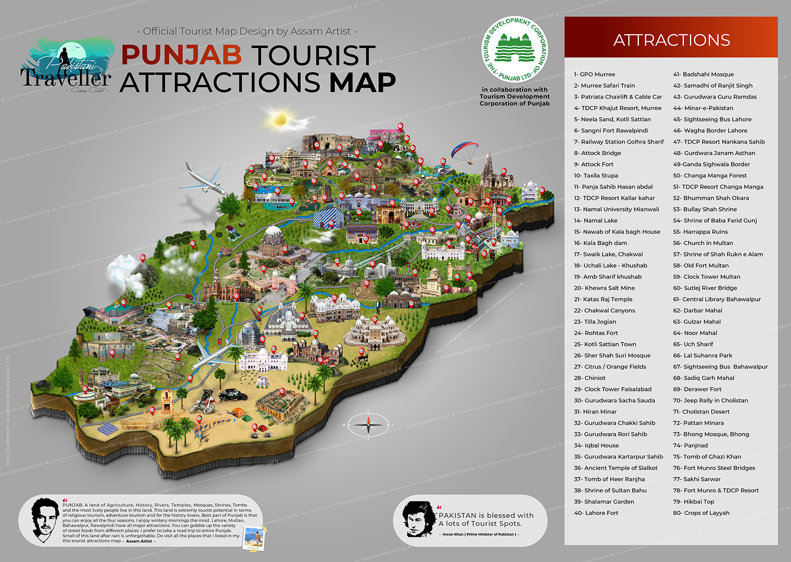 Official Punjab Tourist Attractions Map