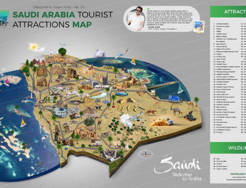 Saudi Arabia Complete Tourist Attractions Map