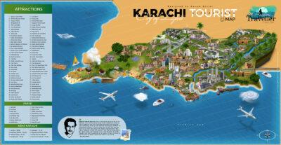 Karachi tourist attractions map - karachi tour guide map