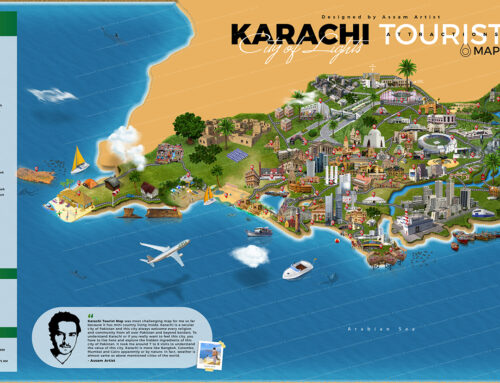 Karachi first tourist attractions map and complete tour guide