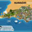 Karachi tourist attractions map - karachi tour guide map