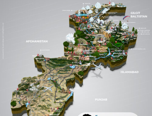 Khyber Pakhtunkhwa First Tourist Attractions Map