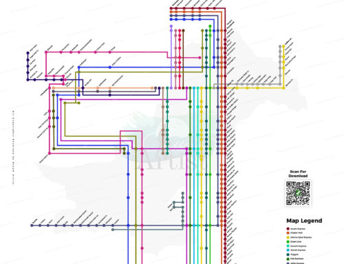Pakistan's First Railways Network Map